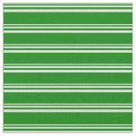 [ Thumbnail: Light Yellow & Green Colored Stripes Pattern Fabric ]