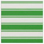 [ Thumbnail: Light Yellow & Green Lines Fabric ]