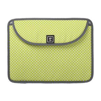 Light Yellow-Green Polka Dots Sleeves For MacBooks