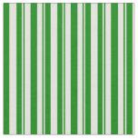 [ Thumbnail: Light Yellow & Green Stripes Pattern Fabric ]