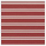 [ Thumbnail: Light Yellow & Maroon Striped/Lined Pattern Fabric ]