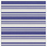 [ Thumbnail: Light Yellow & Midnight Blue Colored Lines Fabric ]