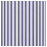 [ Thumbnail: Light Yellow & Midnight Blue Stripes Fabric ]