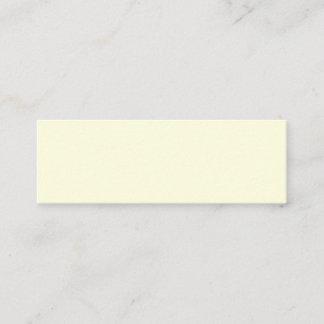 Light Yellow Mini Business Card