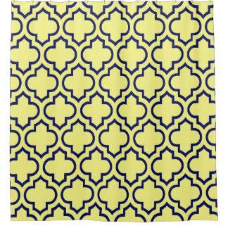 Light Yellow Navy Blue Moroccan  6 Pattern Shower CurtainLight Navy Shower Curtains   Zazzle. Navy And Yellow Shower Curtain. Home Design Ideas