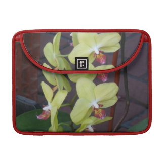 Light Yellow Orchids MacBook Pro Sleeves
