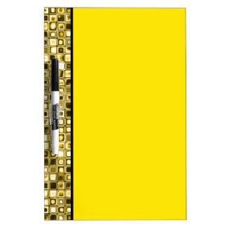 Light Yellow 'Popcorn' Textured Grid Pattern Dry-Erase Board