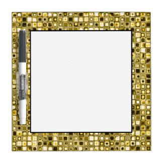 Light Yellow 'Popcorn' Textured Grid Pattern Dry Erase Board