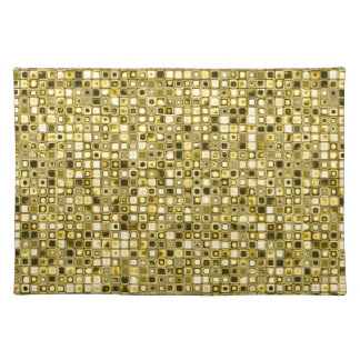 Light Yellow 'Popcorn' Textured Grid Pattern Placemat