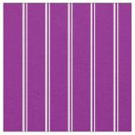 [ Thumbnail: Light Yellow & Purple Stripes Fabric ]