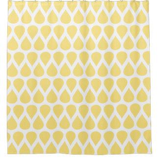 Light Yellow Rain Drops Dot Patterns Shower Curtain