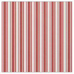[ Thumbnail: Light Yellow & Red Colored Striped Pattern Fabric ]