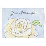 Light Yellow Rose. Greeting Cards