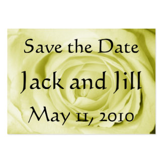 Light Yellow Save the Date Large Business Card