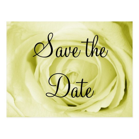 Light Yellow Save the Date Postcard
