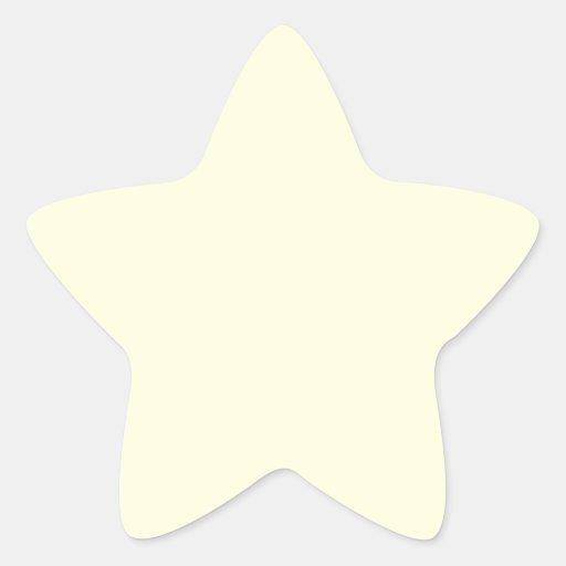 Light Yellow Star Sticker
