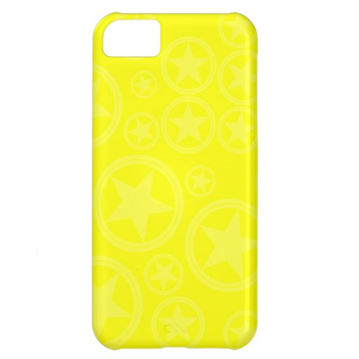 Light Yellow Stars in Circles on Yellow iPhone 5C Case