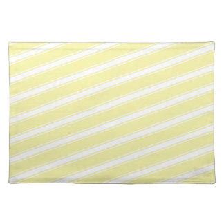 Light Yellow Stripe Pattern Kitchen Placemat