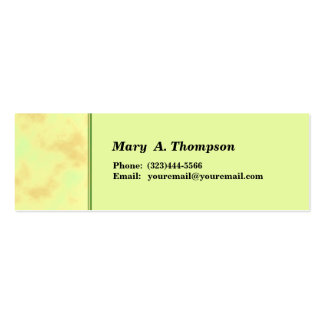 Light Yellow Texture side border Double-Sided Mini Business Cards (Pack Of 20)