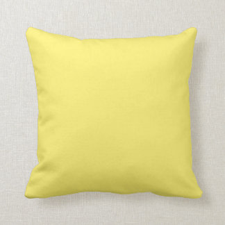 """Light Yellow"" Throw Pillow"