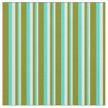 [ Thumbnail: Light Yellow, Turquoise & Green Colored Lines Fabric ]