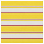 [ Thumbnail: Light Yellow, Yellow, and Brown Colored Lines Fabric ]