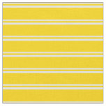 [ Thumbnail: Light Yellow & Yellow Colored Pattern of Stripes Fabric ]