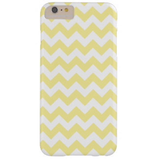 Light Yellow Zig Zag Pattern Barely There iPhone 6 Plus Case
