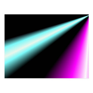 Lightbeams azules y rosados en fondo negro tarjeta postal