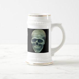 Lightblue Mr. Bone with black background Beer Stein