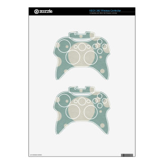 LightBlue & Stone Spots on leather print Xbox 360 Controller Skins