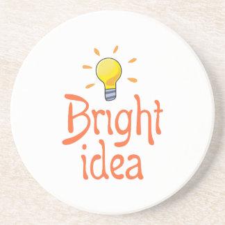 LIGHTBULB BRIGHT IDEA BEVERAGE COASTER