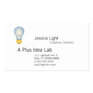 Lightbulb Double-Sided Standard Business Cards (Pack Of 100)