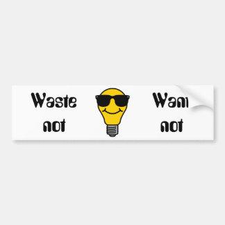 Lightbulb high template bumper stickers