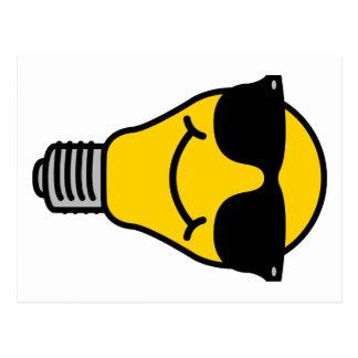 Lightbulb (high) template postcard