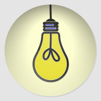 Lightbulb Idea Design Round Stickers