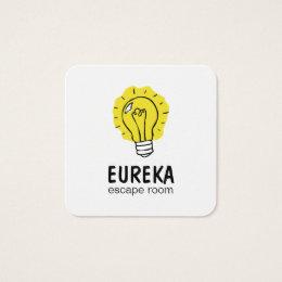 Lightbulb idea square business card