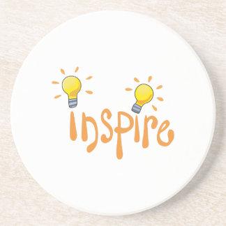 LIGHTBULB INSPIRE BEVERAGE COASTER