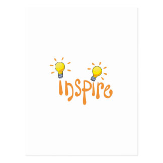 LIGHTBULB INSPIRE POSTCARD