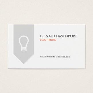LIGHTBULB LOGO for ELECTRICIAN Business Card