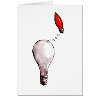 Lightbulb Longing Greeting Card