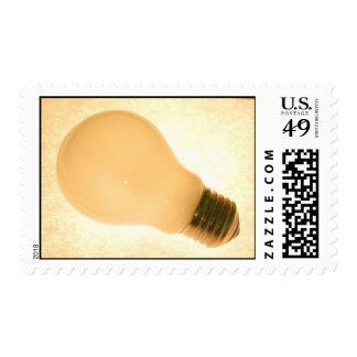 Lightbulb on Stamp