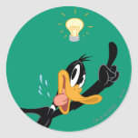Lightbulb over DAFFY DUCK™'s Head Round Stickers