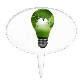 lightbulb planet globe design eco.png cake topper