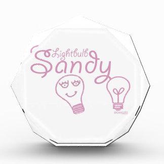 Lightbulb Sandy Acrylic Award