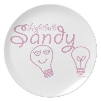 Lightbulb Sandy Plates