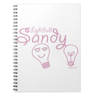Lightbulb Sandy Spiral Notebook