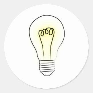 Lightbulb Round Stickers