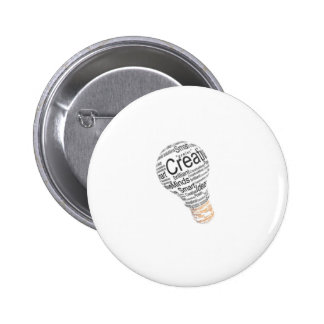 lightbulb with typography celebrating creativity pin