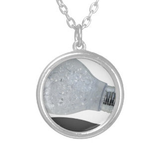 LightBulbFilledWithDiamonds083114 copy.png Silver Plated Necklace